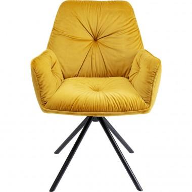Cadeira de braços Mila Amarela