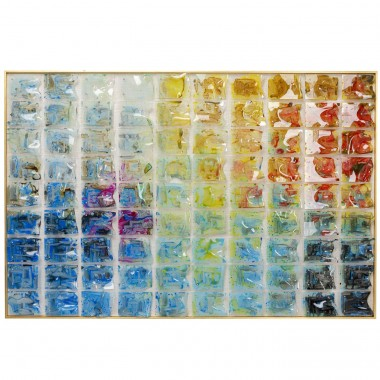 Quadro c/ moldura Rainbow Fields 100x150cm
