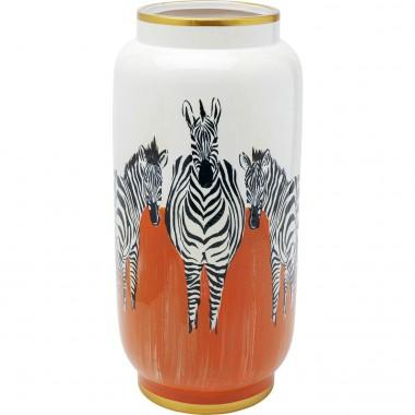 Vase Zebra orange 39cm Kare Design