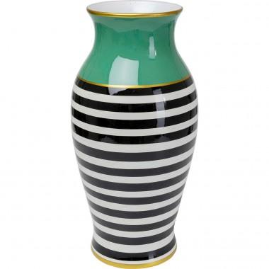 Vase Stripes 52cm vert Kare Design