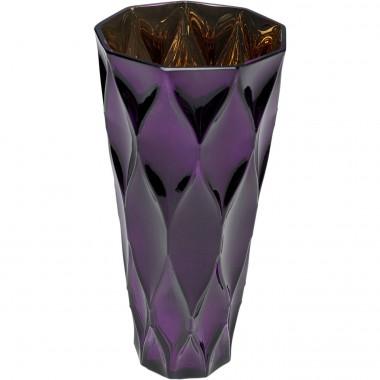 Vase Rhomb violet 30cm Kare Design