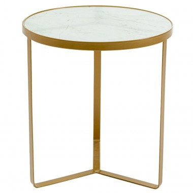 Table d'appoint Marble or 45cm Kare Design