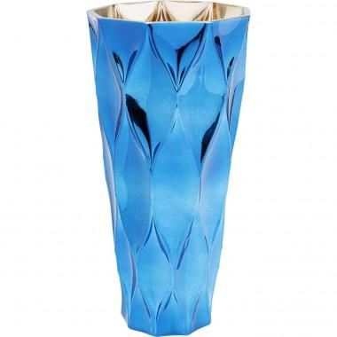 Vase Rhomb bleu 30cm Kare Design