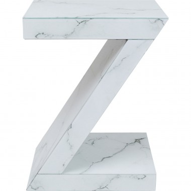 Table d'appoint Luxury Z effet marbre Kare Design