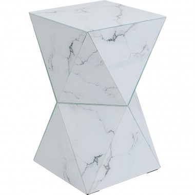Table d'appoint Luxury Triangle effet marbre Kare Design