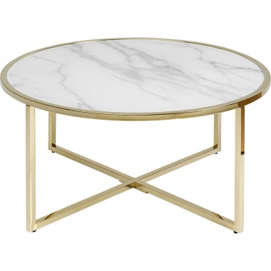Table basse West Beach laiton Ø80cm Kare Design