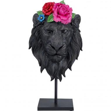 Peça Decorativa Mask Lion Flower