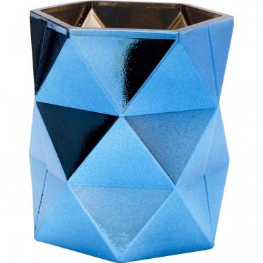 Porta Velas Rhomb Azul 11cm