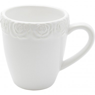 Mugs Roses blancs set de 4 Kare Design