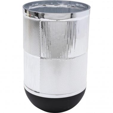 Vase Cap argenté 21cm Kare Design