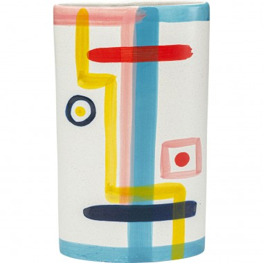 Vase Art Face Colore Flat 31cm Kare Design