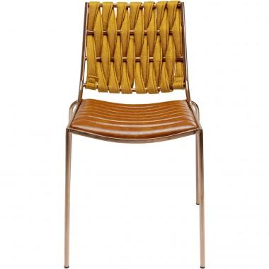 Chaise Two Face marron clair Kare Design