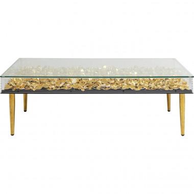 Mesa de Centro Gold Flowers 120x60cm