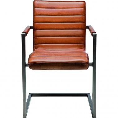 Chaise avec accoudoirs Cantilever Riffle Buffalo Marron Kare Design