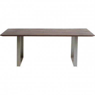Table Symphony noyer chrome 200x100cm Kare Design