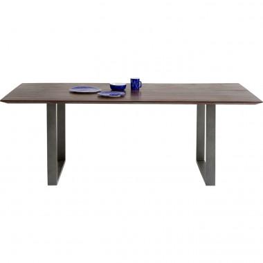 Table Symphony noyer acier 200x100cm Kare Design