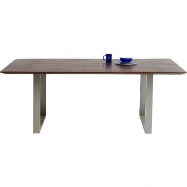 Table Symphony noyer argent 160x80cm Kare Design