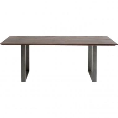 Table Symphony noyer acier 180x90cm Kare Design