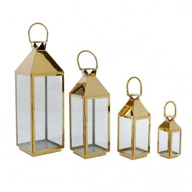 Lanterna Giardino Gold (Conj.4)