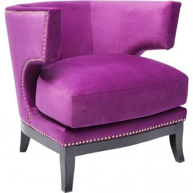 Fauteuil Art Deco violet