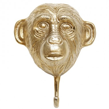 Patère mural Monkey doré