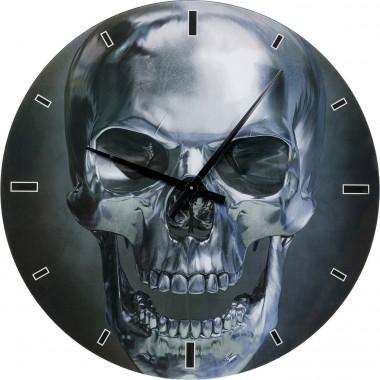 Horloge Murale verre Skull Ø80cm
