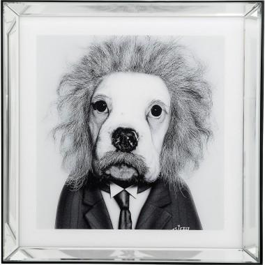 Quadro Moldura em Espelho Smart Dog 60x60cm