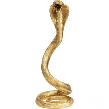 Objeto Decorativo Snake Dourado 39cm