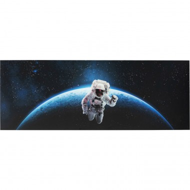 Quadro Vidro Man In Space 80x240cm