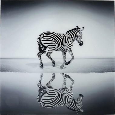 Quadro Vidro Savanne Zebra 120x120cm
