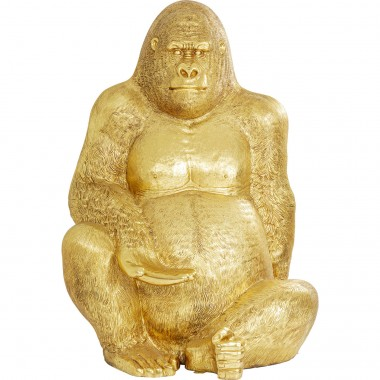 Deco Figurine Gorilla Dourado XXL 249cm