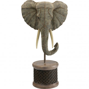 Objeto Decorativo Elephant Head Pearls