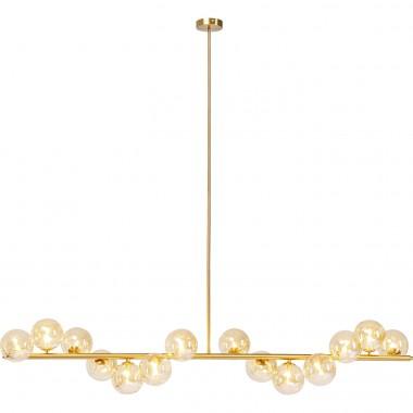 Candeeiro de Teto Scala Balls Dourado 150cm