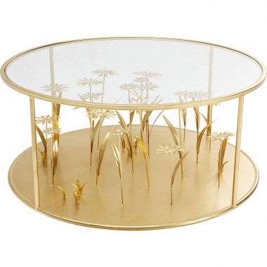 Mesa de Centro Flower Meadow Dourada Ø80cm