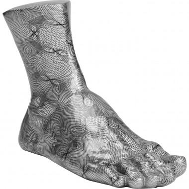 Peça Decorativa Foot Cinza