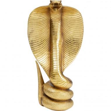 Objeto Decorativo Cobra Dourado 42cm