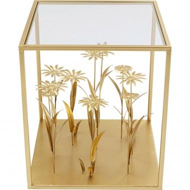 Mesa de Apoio Flower Meadow Dourada 40x40cm