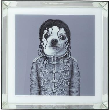 Quadro Moldura em Espelho King Dog 60x60cm