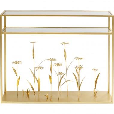 Consola Flower Meadow Dourada 100cm-85066 (11)