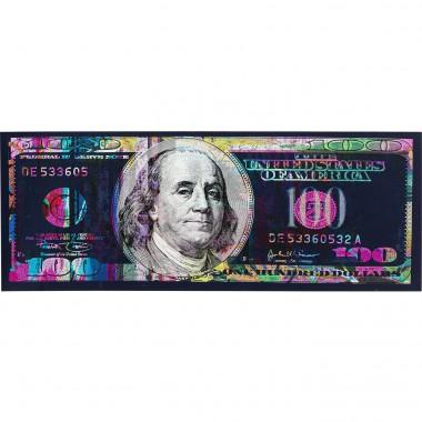Quadro Vidro Dollar 80x200cm