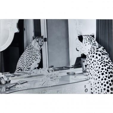 Quadro Vidro Metallic Gepard 100x150cm