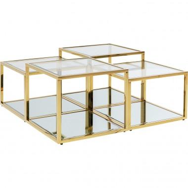 Mesa de Centro Orion Dourada (4/Set)