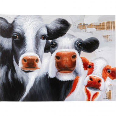 Quadro Touched Snoopy Cows 120x90cm
