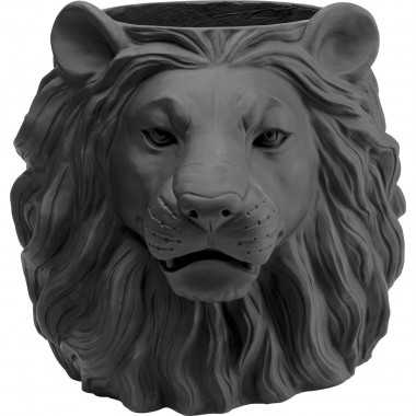 Vaso Decorativo Lion Preto