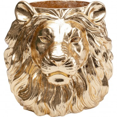 Vaso Decorativo Lion Dourado