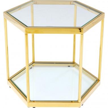 Mesa de Centro Comb Dourada 45cm