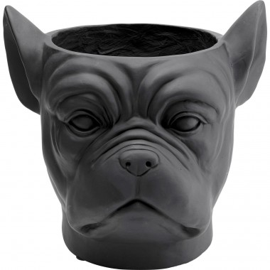 Vaso Decorativo Bulldog Preto
