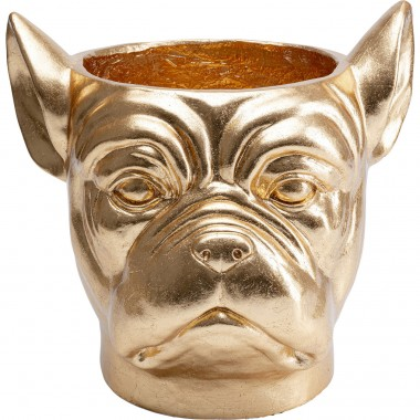 Vaso Decorativo Bulldog Dourado