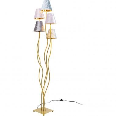 Candeeiro de Chão Flexible Velvet Dourado Cinque-52433 (10)