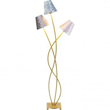 Candeeiro de Chão Flexible Velvet Dourado Tre